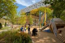 Inspired by an artist's studio, the play structures speak to the park's sense of place and its relationship to the AGO.