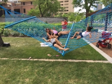 Content for the park should come from the user. The park has the ability to share many voices through events, programs, art and installations such as this winning entry into Winnipeg's annual Cool Gardens exhibit inspired by the cultural 'weaving' witnessed in the fort.
