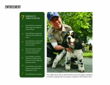 Enforcement is closely aligned with education of dog owners.