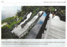 "Ottawa Citizen ""Stairs worth stares"" - Publicity news article, August 9, 2017"
