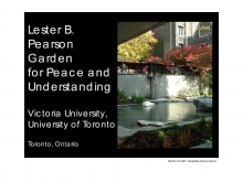 Lester B. Pearson Garden for Peace and Understanding