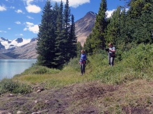 The team was hired to complete a park wide trail  and campground inventory, with Grizzly Bear hazard assessment.