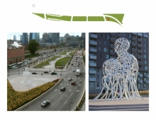 "At the city level, these large-scale urban public spaces are designed as an open-air gallery that hosts, among others, the monumental sculpture ""Source"" that results from a close collaboration with the international artist Jaume Plensa, and which is set to face the downtown core."