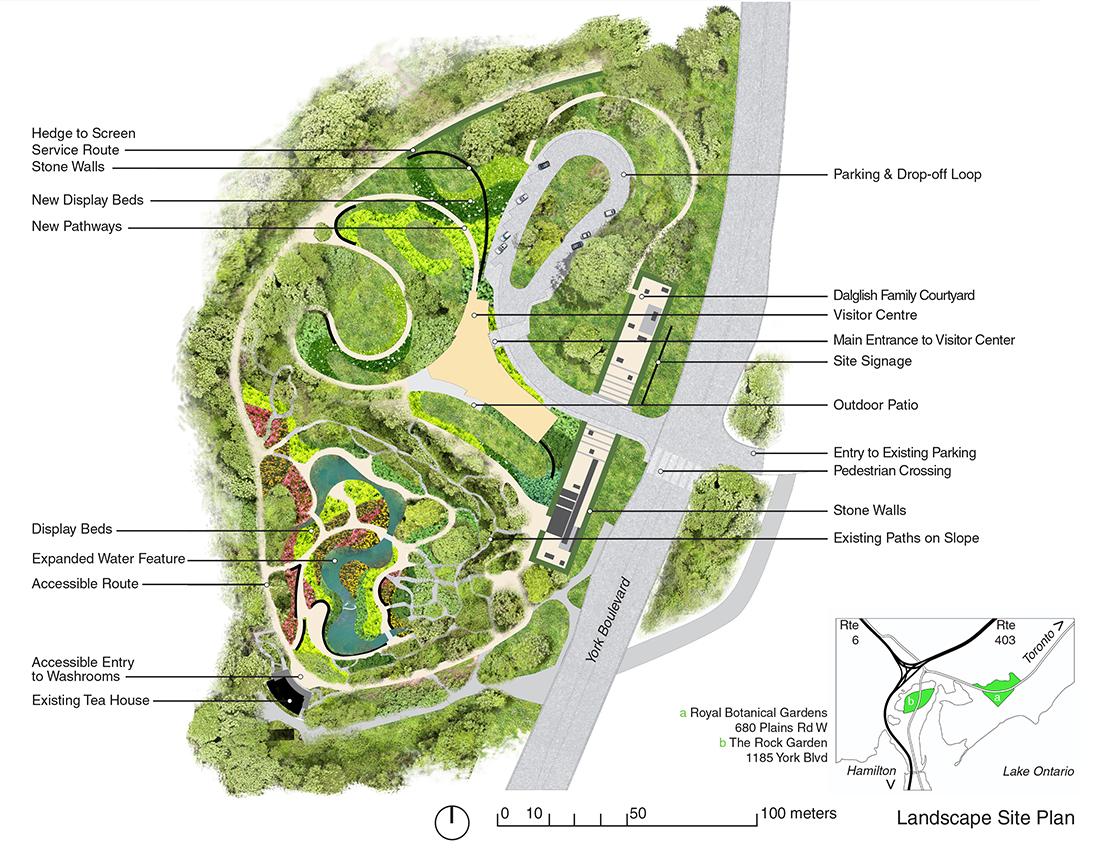 Garden Plan: The David Braley And Nancy Gordon Rock Garden At The Royal