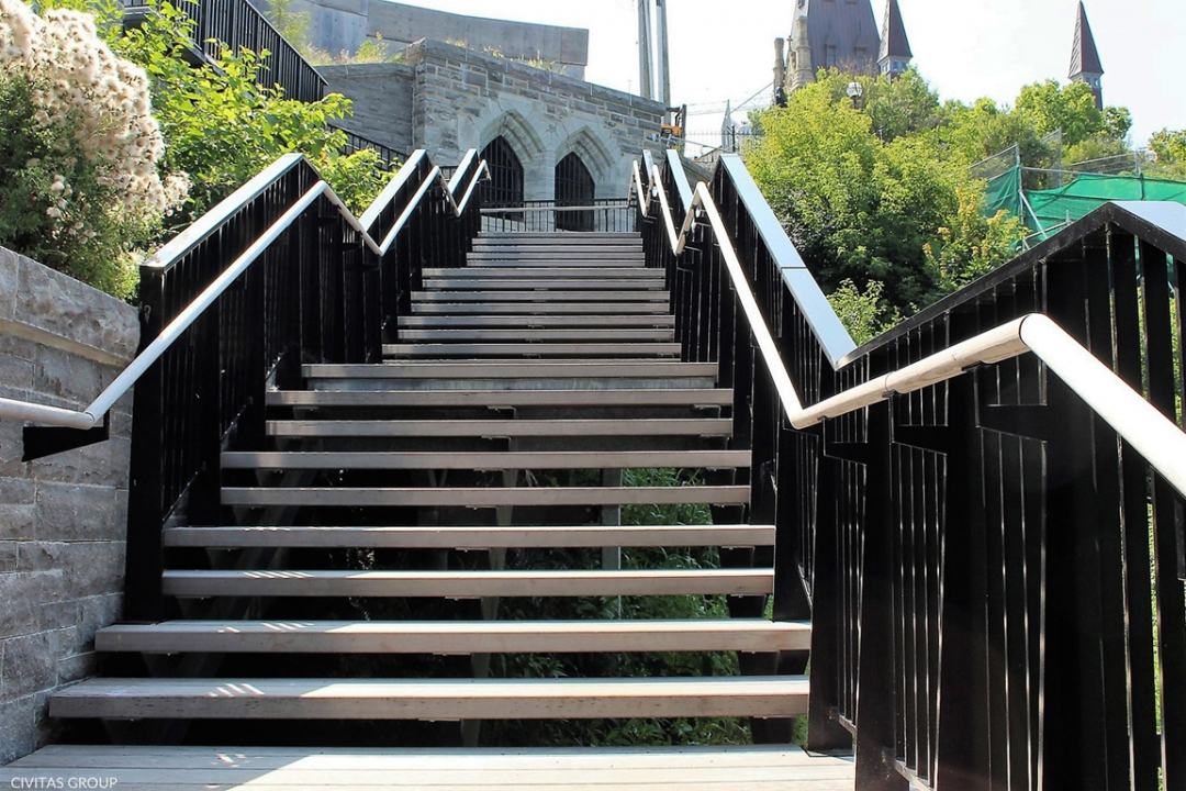 Parliament Hill Escarpment Stairway And Site