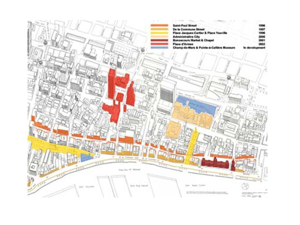 Lighting Plan Old Montreal CSLA - Old montreal map
