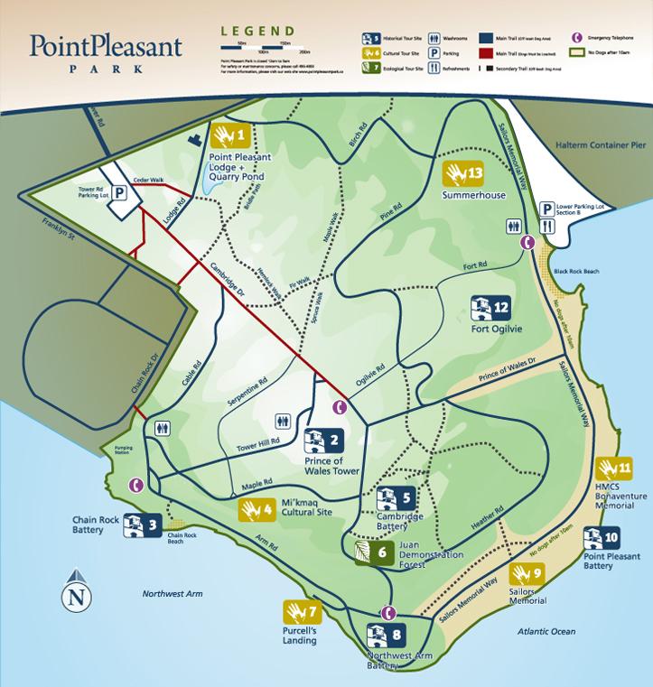 Point Pleasant Park Map Point Pleasant Park | CSLA