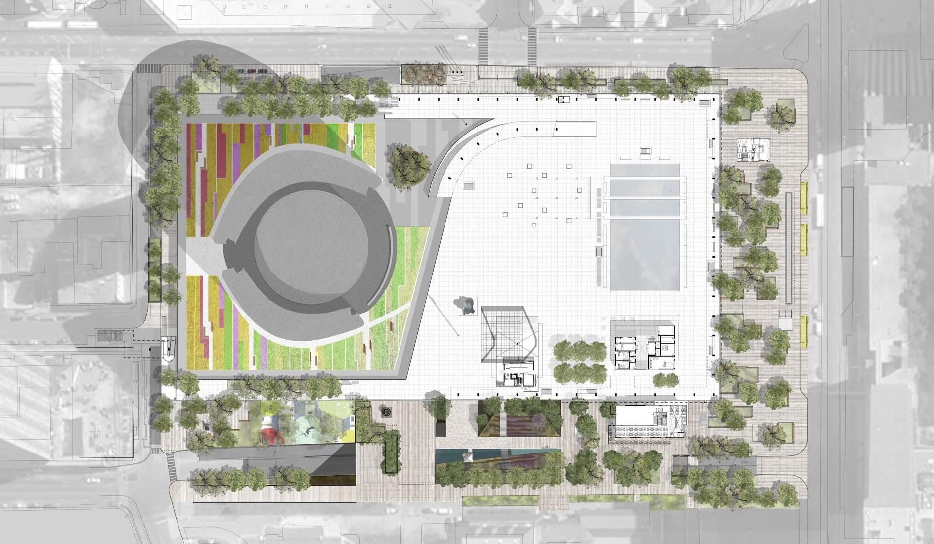 Nathan Phillips Square Podium Green Roof Garden Csla