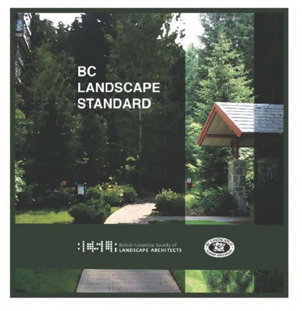 British columbia landscape standard csla for Canadian society of landscape architects