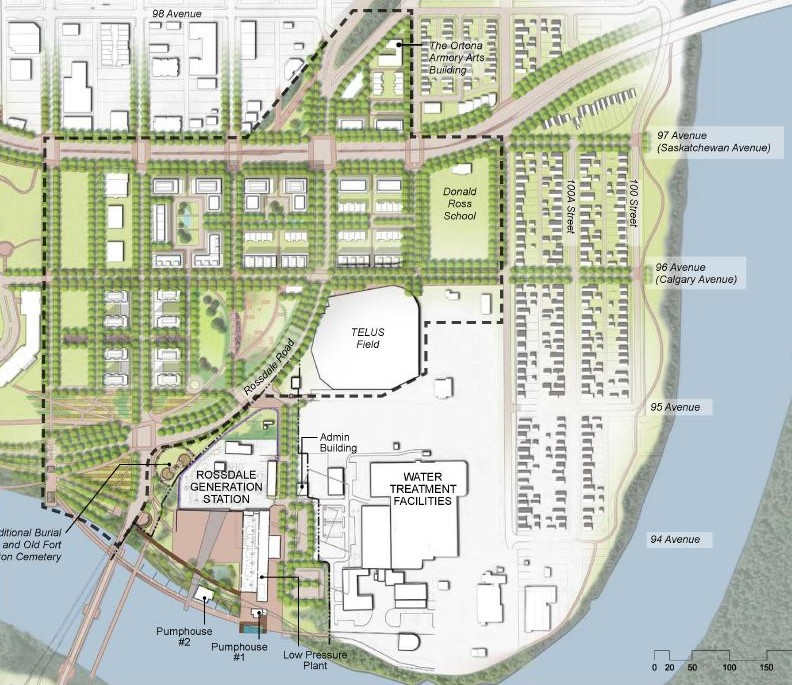 West Rossdale Urban Design Plan And The North Bank Edmonton Legacy Csla