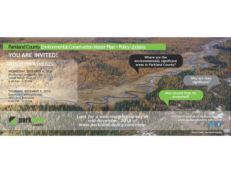 Parkland county environmental conservation master plan csla for Parkland plan